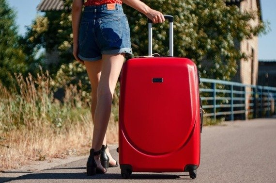 Duża walizka podróżna na kółkach SOLIER STL310 L ABS czerwona