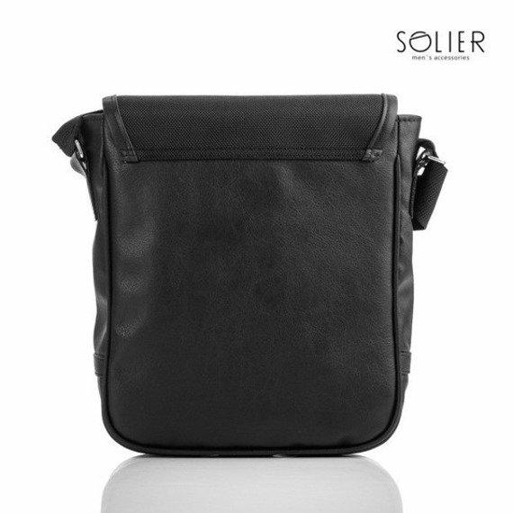 Stylowa torba męska na ramię, tablet SOLIER S07 czarna