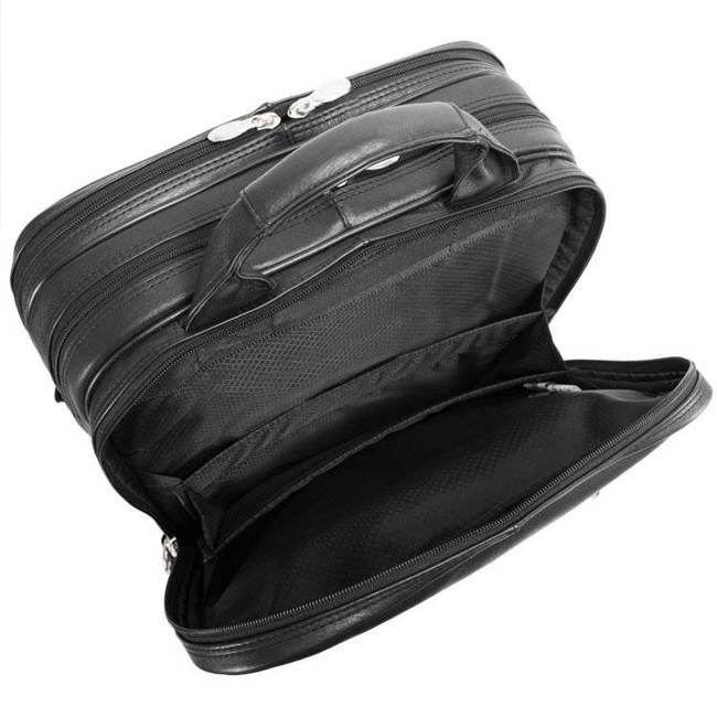 Skórzany plecak z odpinanymi ramionami Torba skórzana na kółkach Mcklein Wicker Park 47195