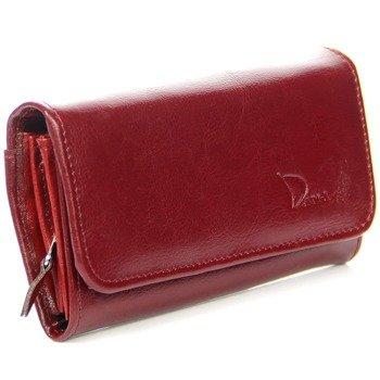 DAN-A P136 bordowy portfel skórzany damski