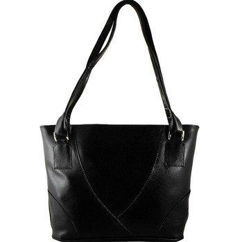 DAN-A T174 czarna torebka skórzana damska