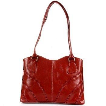 DAN-A T213 czerwona torebka skórzana damska