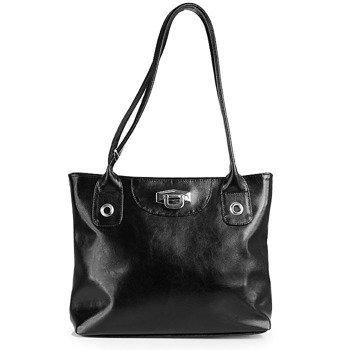 DAN-A T237A czarna torebka skórzana damska