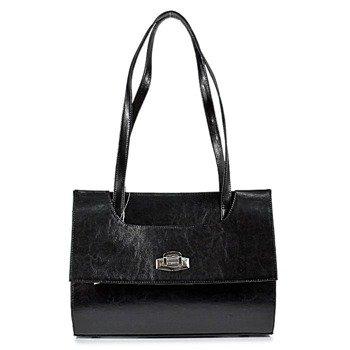 DAN-A T242 czarna torebka skórzana damska kuferek