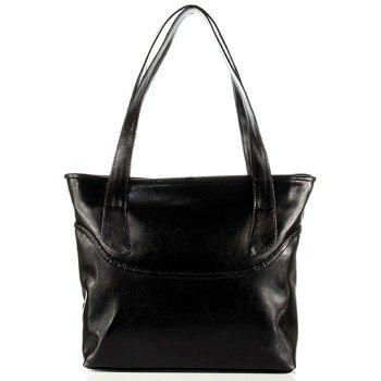 DAN-A T292 czarna torebka damska ze skóry naturalnej
