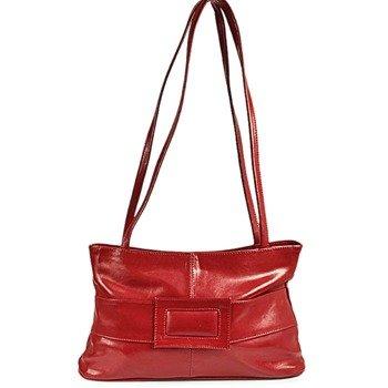 DAN-A T45 czerwona torebka skórzana damska