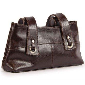 DAN-A T6 czekoladowa torebka skórzana damska