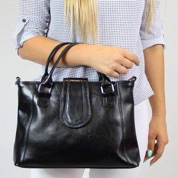 DAN-A T84 czarna torebka skórzana damska aktówka