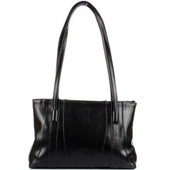 DAN-A T98 czarna torebka skórzana klasyczna