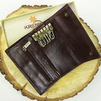 KRENIG Classic 12007 brązowe skórzane etui na klucze