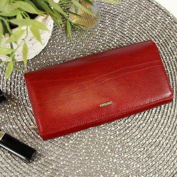 706d9799a729a3 KRENIG El Dorado 11015 ekskluzywny czerwony skórzany portfel damski w  pudełku