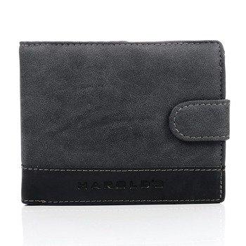 Półskórzany czarny portfel męski GA3