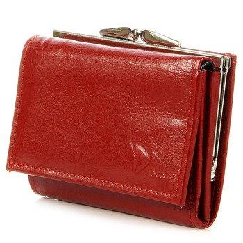 Skórzana portmonetka damska DAN-A P20 czerwona