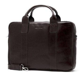 f4f9b78369785 Skórzana torba męska na laptopa BRODRENE R01 ciemnobrązowa