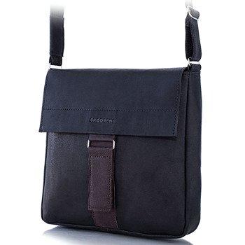 Skórzana torba męska raportówka BRODRENE BL09 czarna