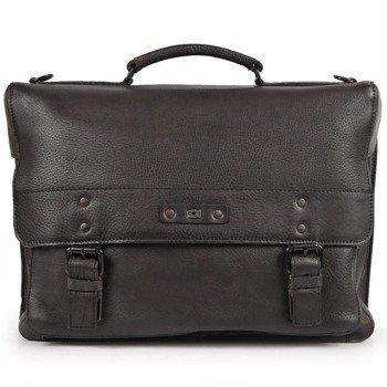 2f078251a88f7 Skórzana torba/teczka na laptopa unisex Daag Shaker 28 czarna