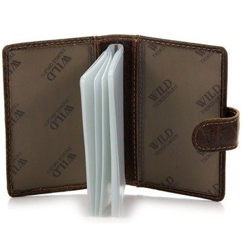 Skórzane brązowe etui na dokumenty, karty, wizytówki GA4