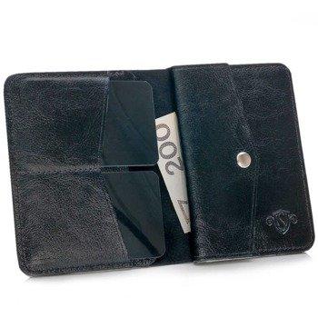 40a6fce9b2e4a Skórzany cienki portfel męski z bilonówką SOLIER SW15 SLIM czarny