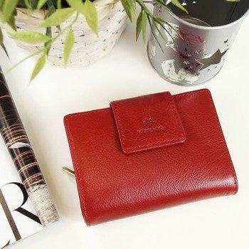 Skórzany portfel damski KRENIG Classic 12045 czerwony w pudełku
