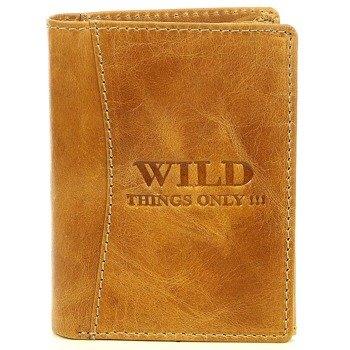 Skórzany portfel męski koniakowy GA99