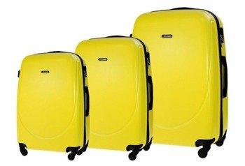 Zestaw walizek podróżnych STL856 żółty