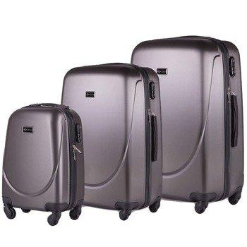 Zestaw walizek podróżnych na kółkach SOLIER STL310 ABS ciemnoszary