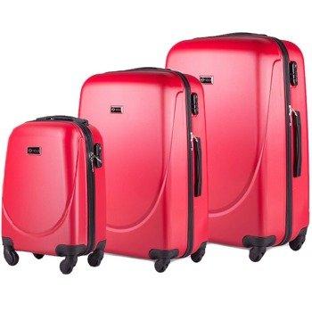 Zestaw walizek podróżnych na kółkach SOLIER STL310 ABS czerwony