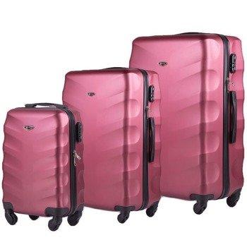 Zestaw walizek podróżnych na kółkach SOLIER STL402 ABS bordowy