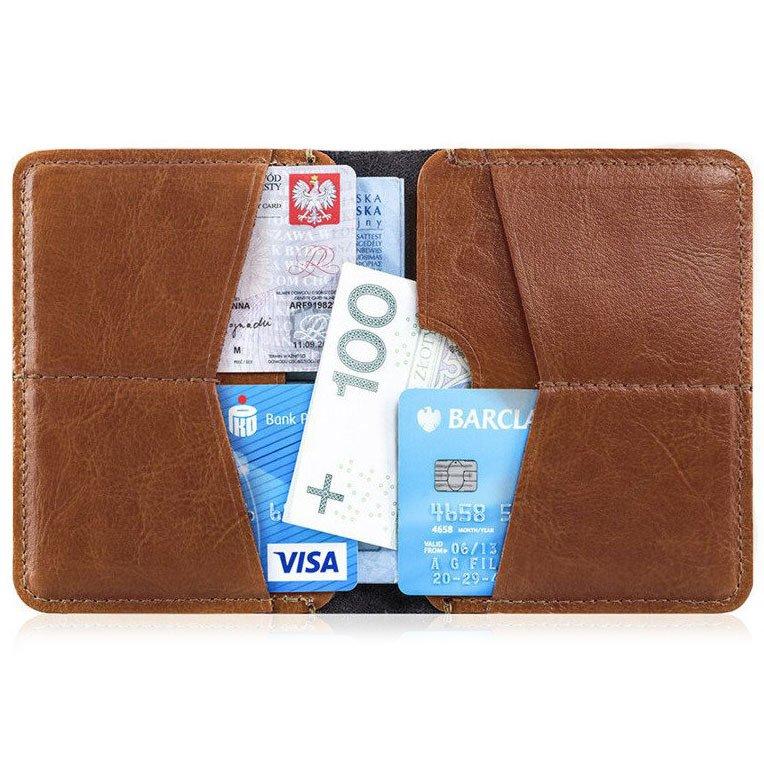 da82348259135 Cienki skórzany portfel męski Solier SW10 brązowy -  17996 ...