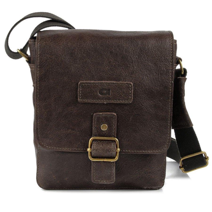 86fa6db519c13 DAAG Jazzy Organic 4 brązowa skórzana torba na ramię unisex -  8060 ...