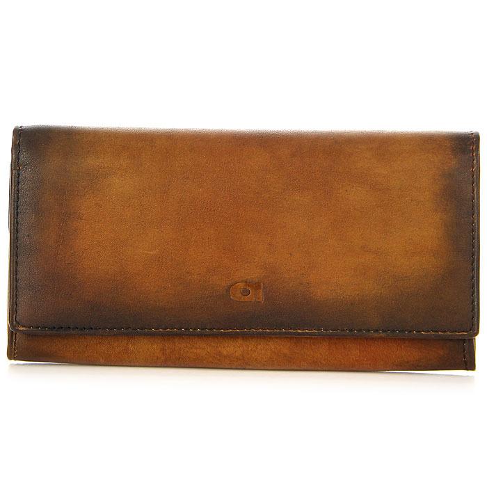 Damski portfel skórzany DAAG Alive P-10 vintage koniakowy w pudełku