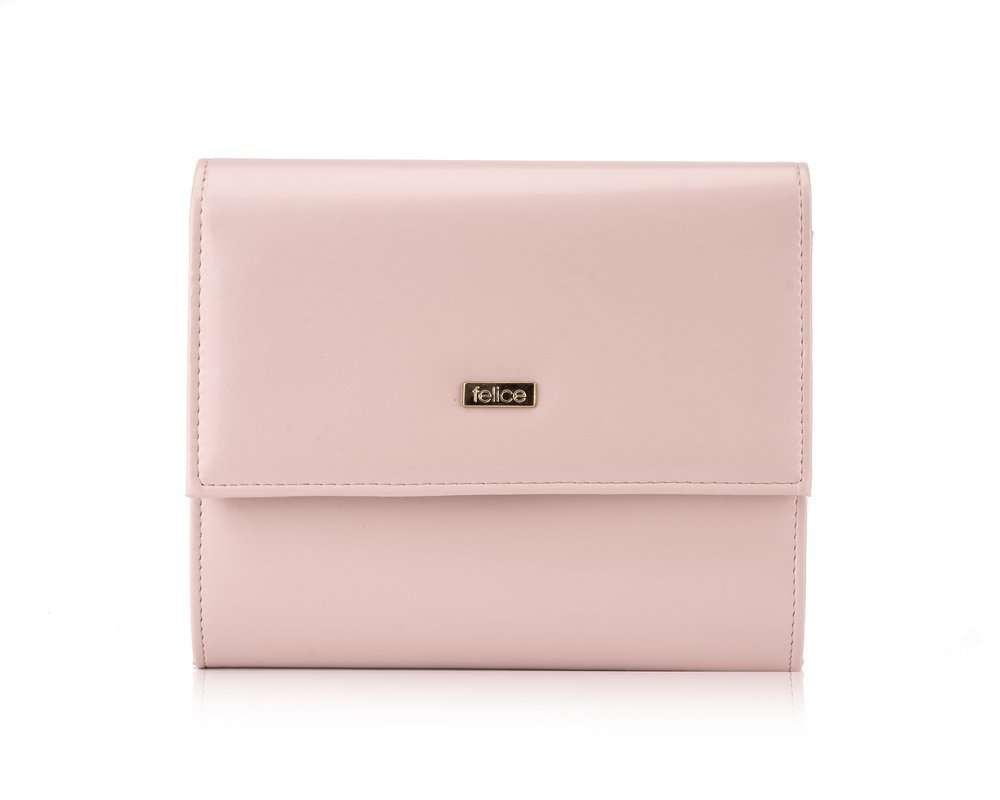 Kopertówka damska Felice F14 dusty pink matt