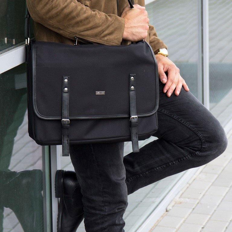 f1499d3d1f86c Listonoszka męska torba na ramię S17 KNOCK czarna - [16528 ...