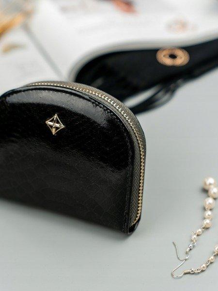 9e9ac5083a4c0 Mała portmonetka damska na zamek czarna Milano Design - [20854 ...