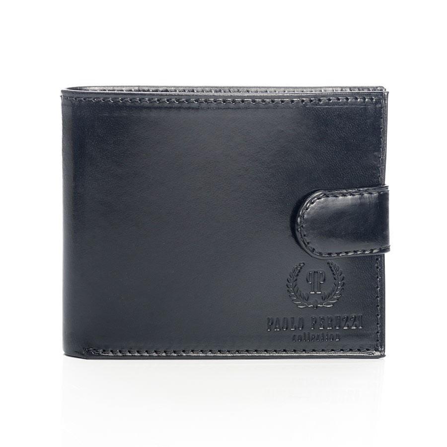 24bbb3b2b5a8f PAOLO PERUZZI ekskluzywny skórzany portfel męski w pudełku czarny GA55 ...