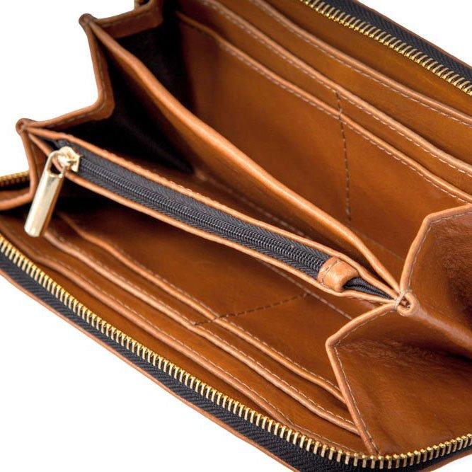Portfel damski skórzany FELICE MP2 jasny brązowy