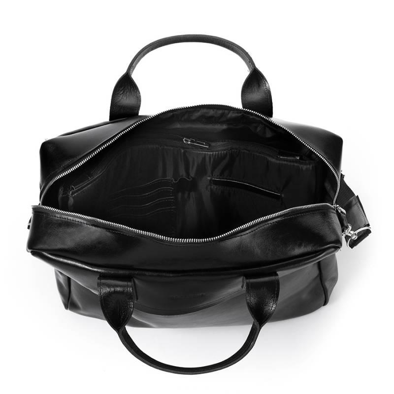 ec4de8db42683 Skórzana torba męska na laptopa 17  BRODRENE R03XL czarna -  17020 ...