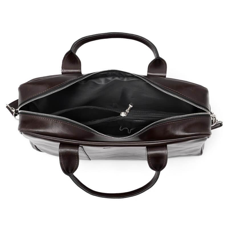 598d7ef3339a0 Skórzana torba męska na laptopa BRODRENE R01 ciemnobrązowa -  17013 ...