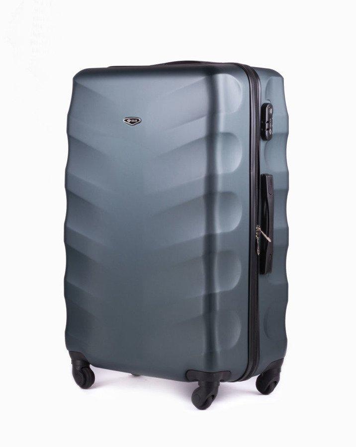 4986d92069049 Średnia walizka podróżna na kółkach SOLIER STL402 M ABS ciemnozielona ...