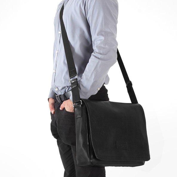 6a6a9e907ce68 Stylowa torba męska na ramię casual SOLIER S11 czarna - [14461 ...