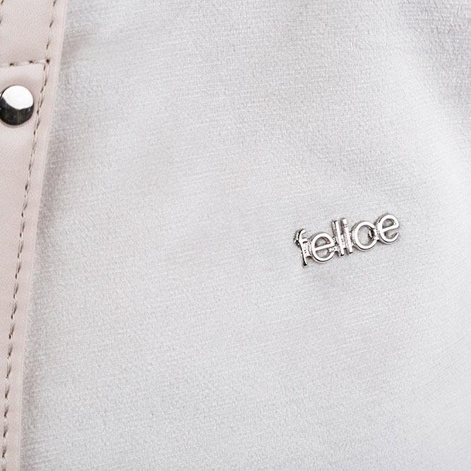 Torba damska shopper Felice Rica FB06 jasnobeżowa