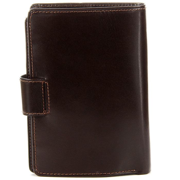 8b2713bb3565a Włoski skórzany portfel męski organizer w pudełku GA57 brązowy ...