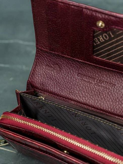 Portfel damski Lorenti czerwony 76112-PT RED