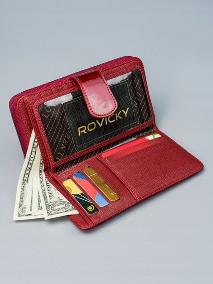 Portfel damski czerwony Lorenti 76116-SH-RFID RED