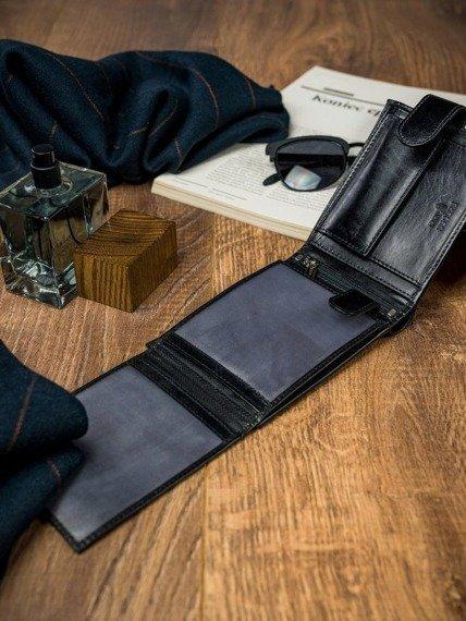 Portfel męski czarny Rovicky N992L-VT-R8 BLACK