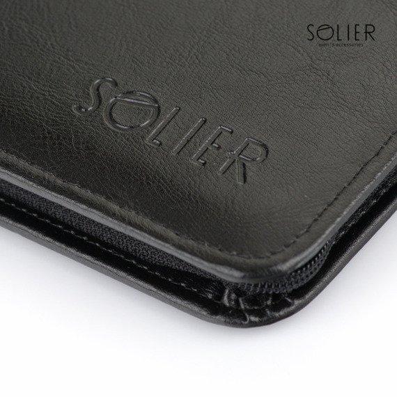 Aktówka biwuar na dokumenty A5 Solier ST03 czarny