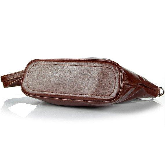 Aktówka kuferek ze skóry naturalnej DAN-A T259 koniakowa
