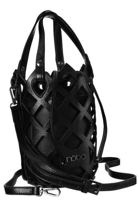 Ażurowy worek czarny Nobo  NBAG-K3010-CM20
