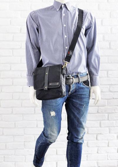 Bawełniana torba na ramię unisex 2JUS by DAAG Zone 2 czarna