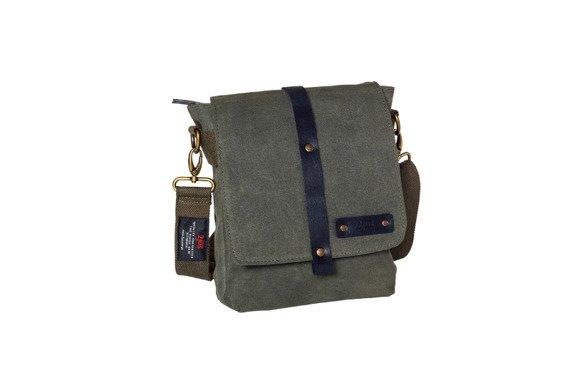 Bawełniana torba na ramię unisex 2JUS by DAAG Zone 2 oliwka